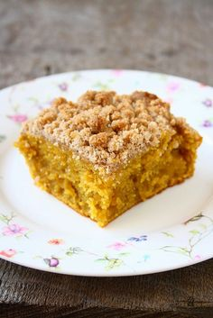 collecting memories: Pumpkin Crumb Coffee Cake -- Veganize this.