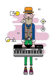 Jimmy and his Keyboard by Ella Zheng, via Behance