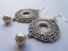 Ravelry: Silk Crochet Circular Washer Earrings pattern by Julia Tellier