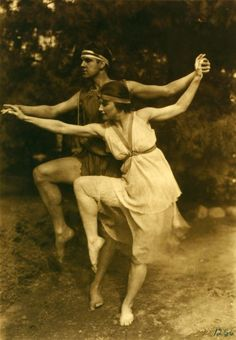Ted Shawn and a pupil - c. 1915