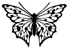 Free Butterfly Printable & How to Use with Silhouette Software - Joy's Life Kirigami, Stencil Patterns, Stencil Designs, Damask Stencil, Felt Patterns, Art Designs, Butterfly Template, Butterfly Stencil, Crown Template