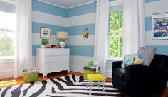 blue striped nursery
