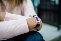 Woman's Wrap Leather and Silver Fit Bit Bracelet for Fitbit Flex by Creek Reflections on Etsy for $165