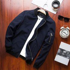 Men Slim Fit Bomber Jacket – 4launt