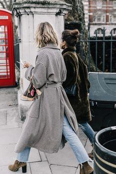 Cool coat + jeans combo