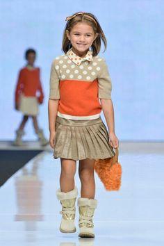 Orange and polka dots