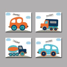 Car Nursery Lorry nursery Baby Boy Nursery decor by artbynataera