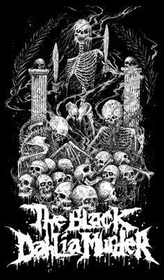 The Black Dahlia Murder Power Metal, Thrash Metal, Dark Art Illustrations, Illustration Art, Anubis, Mark Riddick, The Black Dahlia Murder, Metallica Art, Metal Band Logos