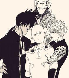 One Punch Man - Suiryu, Saitama, Genos, Amai Sweet Mask and Sonic
