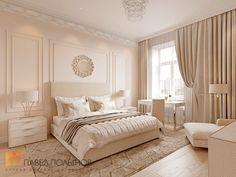 Фото спальня из проекта «Дизайн квартиры 151 кв.м. в клубном доме «DEL' ARTE», современная классика»