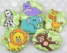 Jungle Sugar cookies Sweet17Cookies.Etsy.com