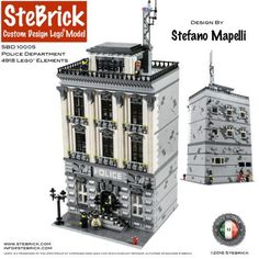 LEGO Police Department Modular Building https://rebrickable.com/mocs/stebrick/police-department-2