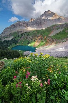 Colorado 14er Mt. Sneffels and Blue Lakes Basin - San Juan Mountains near Ouray : Mountain photography by Aaron Spong