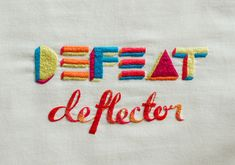 embroidered type