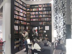 Ikea Ideas for the home! -- I would use this for all my DVDs or books =amazing library