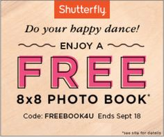 #Free 8X8 #Shutterfly Photo Book. Promo code: FREEBOOK4U https://shutterfly.com/photo-books?cid=OM_16_DR&mpch=ads. Expires Sunday 18 September 2016 11:59 P.M. P.T. Taxes, shipping and handling will apply. Promo can be redeemed MULTIPLE times IF billing address is different. Share this promo with family and friends. #ezswag #havefun #makemoney #savemoney #freebies #freestuff #freeswag #freethings