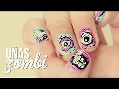 I love Zombies Zombie Nails, Nail Art Designs, Makeup, Zombies, Beauty, Facebook, Twitter, Videos, Google