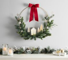 the link for more DIY Christmas projects . - Click the link for more DIY Christmas projects -Click the link for more DIY Christmas projects . - Click the link for more DIY Christmas projects - Noel Christmas, Christmas Projects, Simple Christmas, Holiday Crafts, Diy Christmas Wreaths, Burlap Christmas, Homemade Advent Wreath, Christmas Pom Pom Crafts, Western Christmas