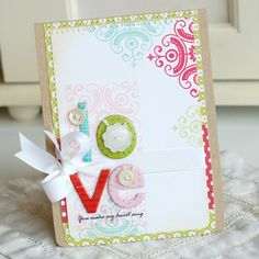 LOVE... You make my heart sing... Handmade Valentine Card