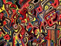 "ORIGINAL PAINTING ""GAPS OR TWELVE PAST TWELVE"" BY MARIA MARACHOWSKA 2002 MARACHOWSKA ART http://www.amazon.de/dp/B00HOC2SDY/ref=cm_sw_r_pi_dp_flQSub1JXKEFC"