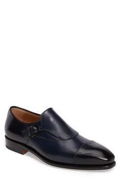 Salvatore Ferragamo Faustino Cap Toe Monk Strap Shoe (Men)