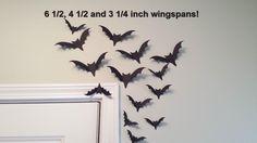 30  Black Bat Die Cuts, Large Medium Small Flying Black Bat Wall Decorations,  Bat Party Decor by thingsbyjuju on Etsy https://www.etsy.com/listing/479557500/30-black-bat-die-cuts-large-medium-small