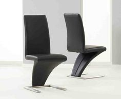 Black And Chrome Dining Chairs