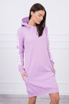 Športové šaty fialové Grape Color, Sweatshirt Dress, Off White, Overalls, Fashion Dresses, Cold Shoulder Dress, High Neck Dress, Calvin Klein, Purple