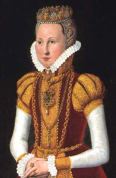 16th century portrait of Sophie of Mecklenburg-Güstrow, granddaughter of Frederick I of Denmark and consort of Frederick II of Denmark, Sophie was born on 4 September 1557. Her second daughter, Anne, married James I of England, and their daughter Elizabeth is the ancestress of today's British royal family.