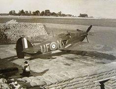 "Hawker Hurricane Mk.I, UF-N, No 601 Squadron RAF, pilot P/O Juliusz ""Topola"" Topolnicki, Tangmere, August 1940."
