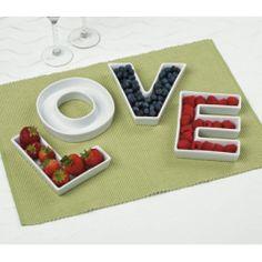 Letter Ceramic Dishes
