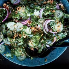 Kale and Cucumber Salad With Roasted Ginger Dressing