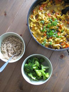 Hei sveis! De siste par månedene har gjengen min vært dillet på indisk. Vi har kokkelert Indiske gryter og supper iallefall én gang i uken. Helst to. Favoritten nå er en kjapp hverdagsgryterett som smaker himmelsk. Den er basert på kokosmelk og rød curry paste, og er akkurat passe sterk til at selv de minste liker den. INDISK CURRY GRYTE Du trenger (4 gode porsjoner): 2 store gulrøtter i terninger 1 stor paprika i biter 1 liten finhakket gul løk (eller 1/2 stor) 1/3 purre i ringer 1 ts…