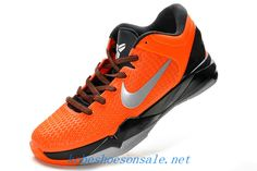 sports shoes 14407 244f5 Nike Zoom Kobe 7 Elite Total Orange Metallic Silver Black 511371 800