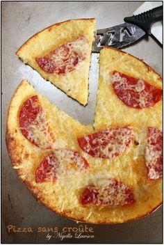 Pizza sans croûte de Nigella...express !