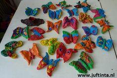 Vlinders kleien - Knutselen!