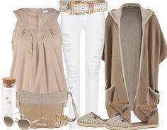 Beige und Weiß ist eine perfekte Kombi ♥  stylefruits Inspiration