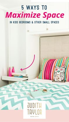 kids rooms, built-ins, built-in storage, girl's rooms Interior Design Guide, Interior Design Inspiration, Child's Room, Girl Room, Maximize Space, Kids Bedroom, Kids Rooms, Built In Storage, Interior Walls