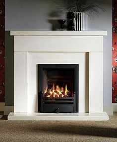 So What is a Fireplace Insert? - Fireplace Tip[s & Tricks - Wood Fireplace Surrounds, Fireplace Tile Surround, Slate Fireplace, Fireplace Remodel, Modern Fireplace, Living Room With Fireplace, Fireplace Design, Fireplace Mantels, Electric Fireplace