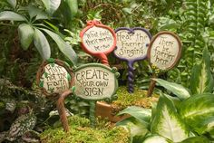 Customized Fairy Garden Sign