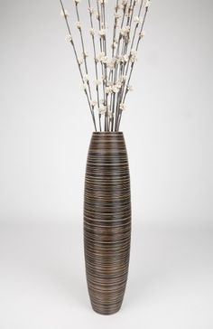 Tall Floor Vase 30 inches, Wood, Brown -- Read more reviews of the product by visiting the link on the image.