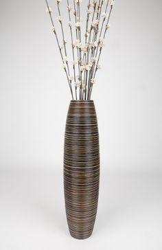 Tall Floor Vase 30 inches, Wood, Brown Leewadee http://www.amazon.com/dp/B005GNB73K/ref=cm_sw_r_pi_dp_p8plwb0G85RR5