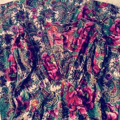 """From my private collection- #vintage #floral #rayon #dress #circa1940s"""
