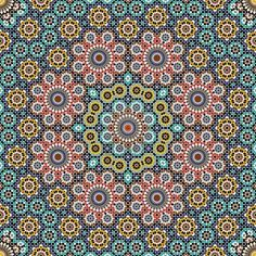 Traditional Morocco Pattern Stock Photo