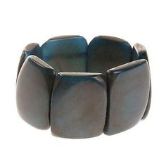 Polished Tagua Nut Bracelet in Slate - Faire Collection