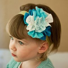 Pretty!  Icy Baby Blues Fabric Headband Could probably DIY