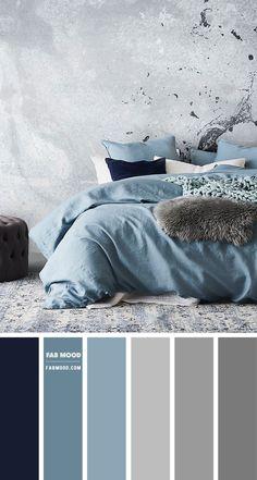 Room Design Bedroom, Gray Bedroom, Bedroom Decor, Modern Grey Bedroom, Color Palette For Home, Paint Colors For Home, Grey Colour Scheme Bedroom, Calming Bedroom Colors, Beautiful Bedrooms
