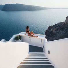 Santorini ... Could watch the sunset here everyday ☀️