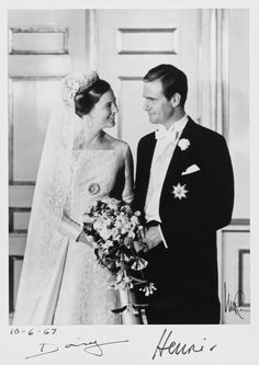 Queen Margrethe II and Prince Henrik of Denmark celebrate their Gold wedding anniversary today. On 10 June 1967, the wedding ceremony of Crown Princess Margrethe of Denmark  and Henri de Laborde de Monpezat took place at the Church of Holmen in Copenhagen.