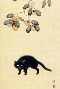 "thoxt: ""「黒猫」 菱田春草 1910 """